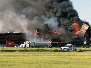 2 trains collide in Texas, injuries reported