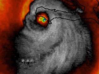 Radar shot of Hurricane Matthew looks like skull