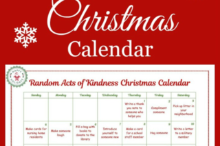 Spread holiday cheer with this kindness calendar