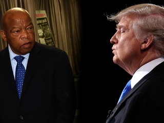 Trump isn't letting his feud with Lewis go