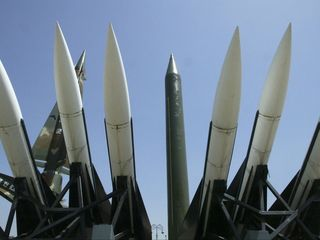 North Korea stages massive weapons drill