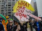 Pro-Trump, anti-Trump protesters collide