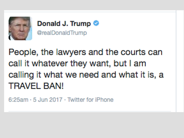 Legal experts to Trump on travel ban: Put down the Twitter