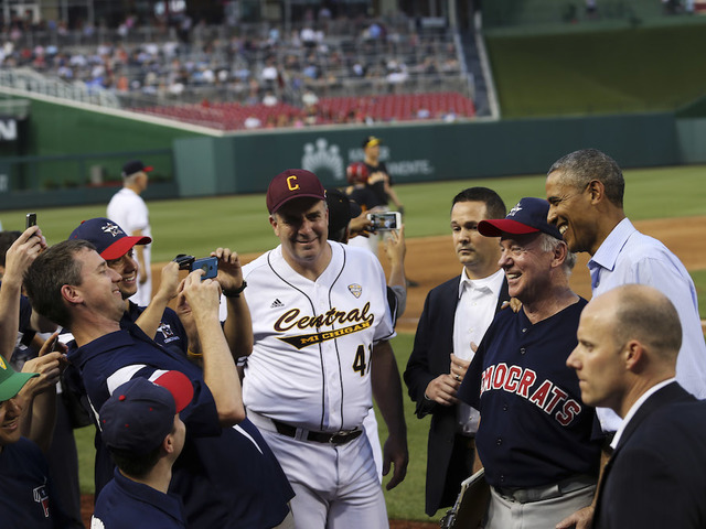 Louisiana Congressman Steve Scalise shot at congressional baseball practice