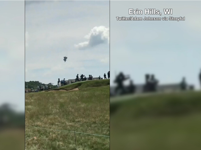 Blimp operator: Pilot 'OK' after US Open crash