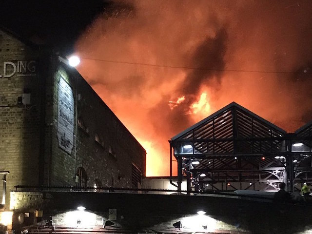 Major fire breaks out in London market