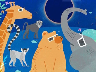 Animals and the eclipse are an ancient mystery