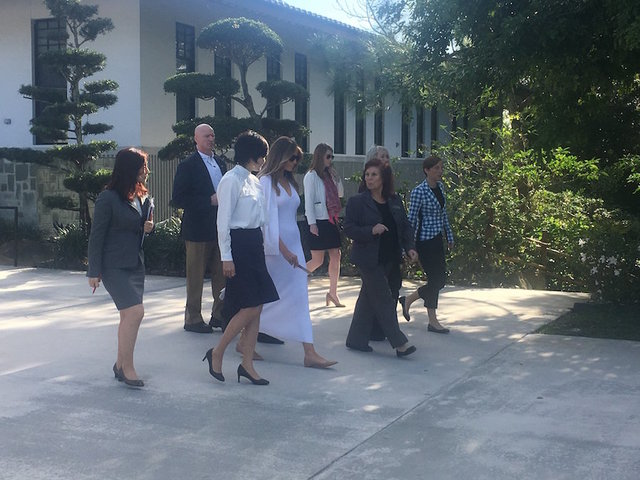 First Lady Melania Trump And Akie Abe Tour The Morikami Museum And Gardens  In Delray Beach, Florida. The Visit With The Wife Of Japanu0027s Prime Minister  Was ...