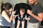 Caution checking stroller, car seat on plane