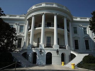 Car rams security barrier at White House