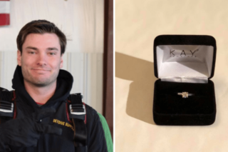 Man is giving an engagement ring for free