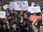 Student march echoes Mom March for gun control