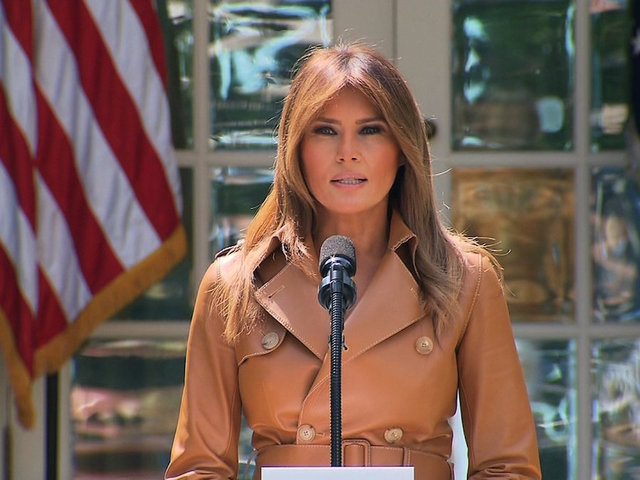 First Lady of the United States Melania Trump unveils her formal platform