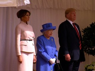 The Trumps meet Queen Elizabeth II