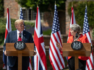 British PM: Trump advised her to sue EU