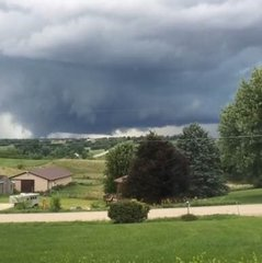 Tornadoes rip through Iowa, caught on video