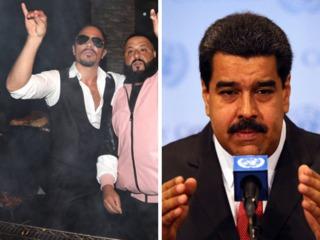 Venezuela president slammed for 'Salt Bae' meal