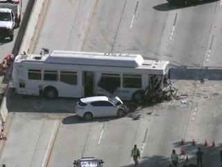 Bus crash injures at least 25 people